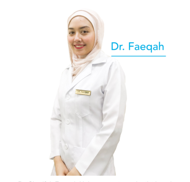 a potrait of doctor faeqah who works for adda dental